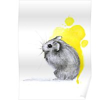Hamster Watercolour Poster