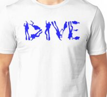 DIVE WITH DIVERS IN BLUE Unisex T-Shirt