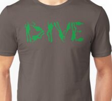 DIVE WITH DIVERS IN GREEN Unisex T-Shirt