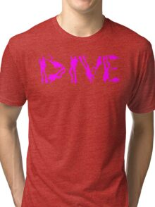 DIVE WITH DIVERS IN PINK Tri-blend T-Shirt