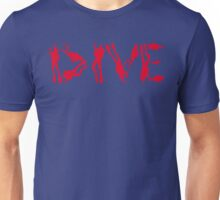 DIVE WITH DIVERS IN RED Unisex T-Shirt