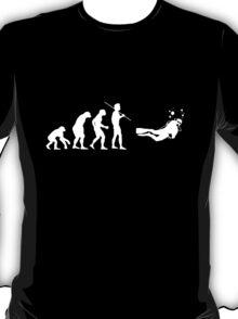 Evolution to Scuba Diver WHITE T-Shirt