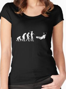 Evolution to Scuba Diver WHITE Women's Fitted Scoop T-Shirt
