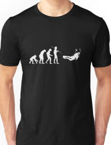 Evolution to Scuba Diver WHITE Unisex T-Shirt