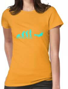 Evolution to Scuba Diver LIGHT BLUE Womens Fitted T-Shirt