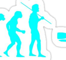 Evolution to Scuba Diver LIGHT BLUE Sticker