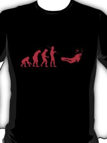 Evolution to Scuba Diver RED T-Shirt