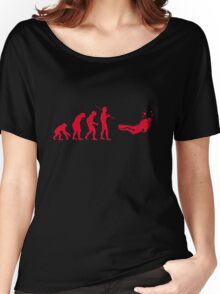 Evolution to Scuba Diver RED Women's Relaxed Fit T-Shirt