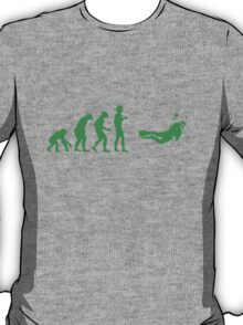 Evolution to Scuba Diver GREEN T-Shirt