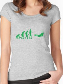 Evolution to Scuba Diver GREEN Women's Fitted Scoop T-Shirt