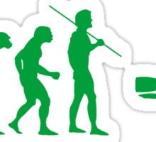 Evolution to Scuba Diver GREEN Sticker