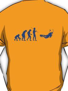 Evolution to Scuba Diver BLUE T-Shirt