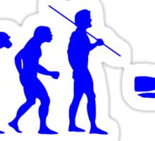 Evolution to Scuba Diver BLUE Sticker