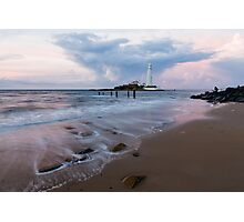 Saint Mary's Lighthouse at Whitley Bay Photographic Print