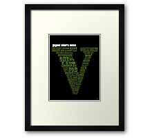GTA V - One Last Job Framed Print