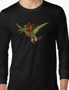 Pterodactyl and Robot Long Sleeve T-Shirt
