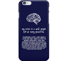 scary gibberish iPhone Case/Skin