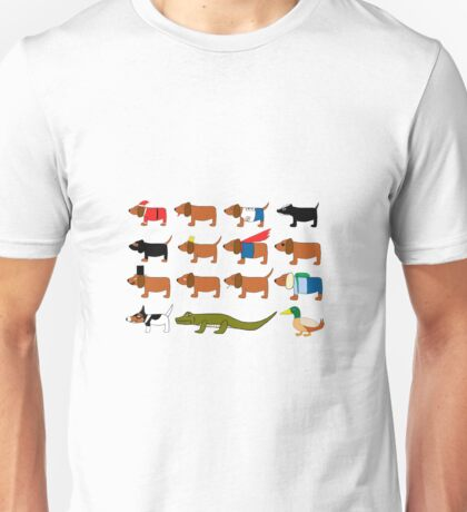 Sneaky Dog and friends Unisex T-Shirt
