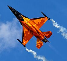 "RNethAF F-16AM Fighting Falcon J-015 ""Orange Lion"" by Andrew Harker"