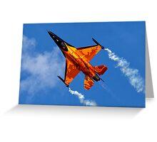"""RNethAF F-16AM Fighting Falcon J-015 """"Orange Lion"""" Greeting Card"""