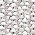 Autumn Mushroom Pattern by Vicky Webb