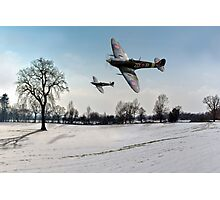 Boys will be boys: low-flying Spitfires Photographic Print