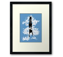 Free style down from the sky... Framed Print