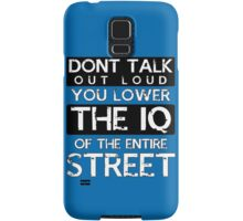Sherlock - Don't Talk Out Loud... Samsung Galaxy Case/Skin