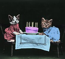 Kitten's Birthday Party by Vintage Designs