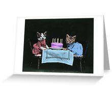 Kitten's Birthday Party Greeting Card