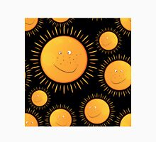 funny smiling sun in the  seamless pattern Classic T-Shirt