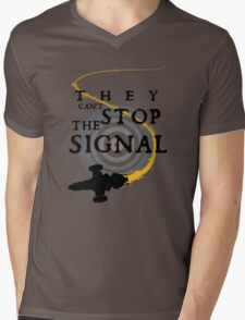 They Can't Stop the Signal Mens V-Neck T-Shirt
