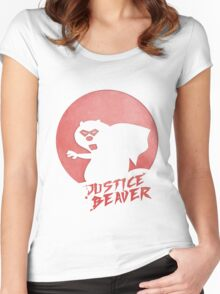 Justice Beaver Women's Fitted Scoop T-Shirt