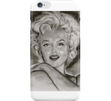 Marilyn in black and white iPhone Case/Skin