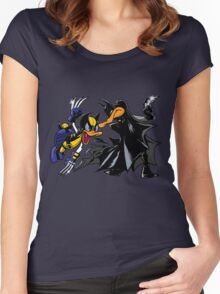 Duck Fight! Women's Fitted Scoop T-Shirt