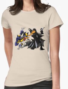 Duck Fight! Womens Fitted T-Shirt