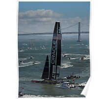"""The USA Oracle wins the America's Cup"" Poster"