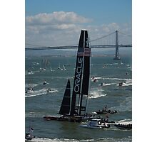 """The USA Oracle wins the America's Cup"" Photographic Print"