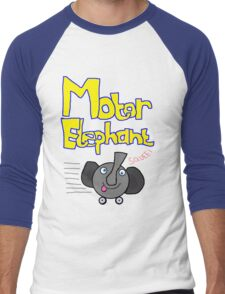 Motor Elephant on the move! Men's Baseball ¾ T-Shirt