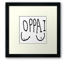 ONE PUNCH MAN OPPAI WEBCOMIC VERSION Framed Print
