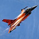 "RNethAF F-16AM Fighting Falcon J-015 ""Orange Lion"" by Andrew Harker"
