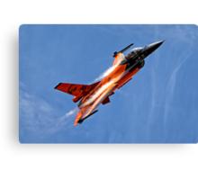 """RNethAF F-16AM Fighting Falcon J-015 """"Orange Lion"""" Canvas Print"""