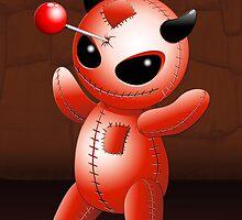 Voodoo Doll Evil Devil Cartoon by BluedarkArt
