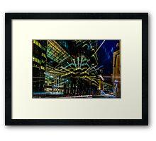Boston city lights  Framed Print