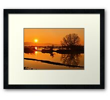 Sunset @ Lake Kerkini Framed Print