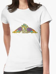 Celtic Illumination - Bird Knot Womens Fitted T-Shirt
