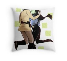 Space Wives Clear Throw Pillow