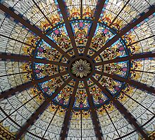 Art Deco glass ceiling in The Empress Hotel Victoria Canada by DonnaMoore