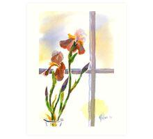 Irises in the Window Art Print