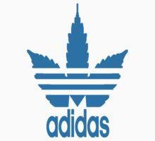 Weed/Adidas logo by Yelax